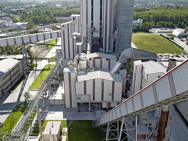 Цементный завод Holcim в Коломне